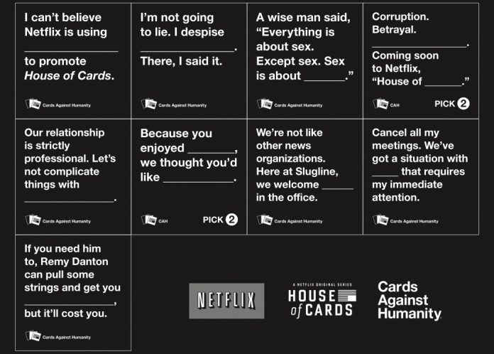 Netflix house of cards against humanity