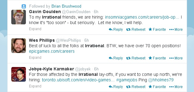 Irrational Games support on Twitter