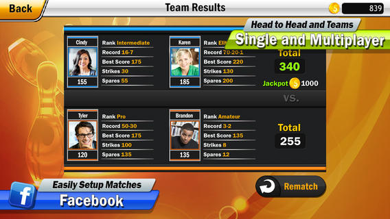 iPhone bowling game