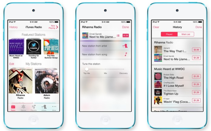 From zero to third place in a little more than half a year, iTunes Radio is already a success. Apple's on-demand music streamer has already passed Spotify