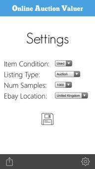 Online auction valuer app