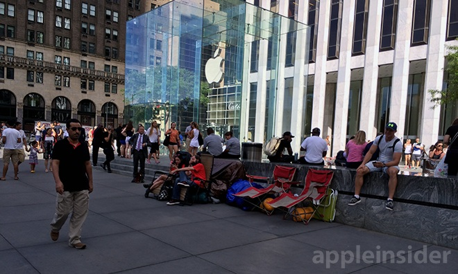Assume the position? Apple will announce the iPhone Air, iPhone 6, etc on Tuesday, but not ship until Sept 19. The Apple Store lines have already begun…