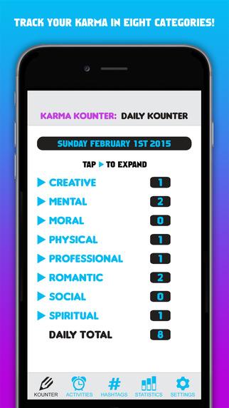 Karma Kounter iPhone app