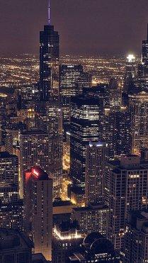City Night Lights iPhone 7 Wallpaper