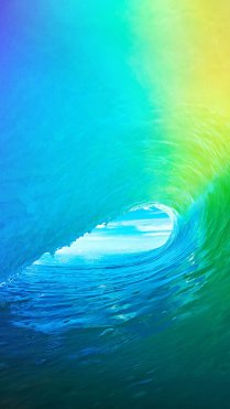 Blue Water Wave iPhone 7 Colorful Wallpapers