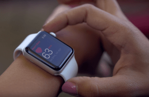 An image of the Apple Watch 3 with Heartbeat Feature