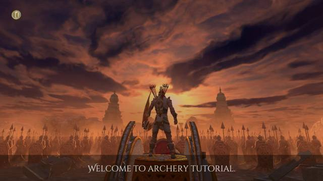 A Screenshot of the A - Legend of Abhimanyu As the Game Plays on iOS