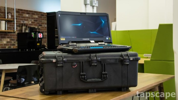 This is the AcerPredator 21X gaming laptop