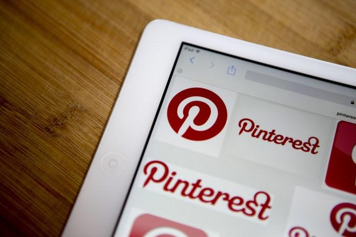An image of Pinterest on an iPad