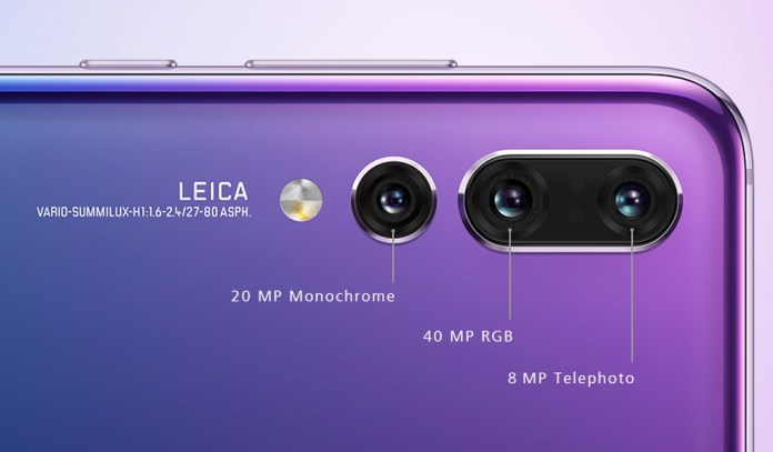 Huawei P20 Pro sports three cameras on the back