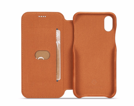 Flip Stand Leather Wallet Case Brown Inside