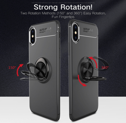 Soft Silicone Magnetic Ring Case Backend