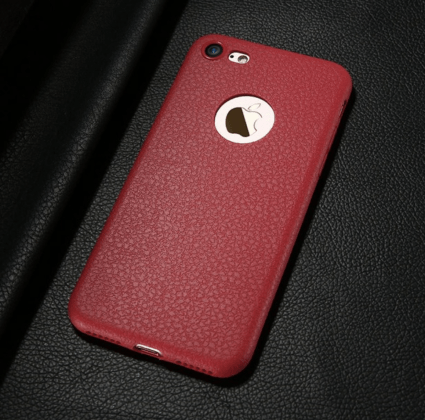 Red Ultra Thin Soft Leather Case