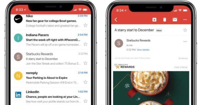 gmail iphone x