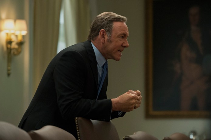 Frank Underwood character showers droplets of charisma