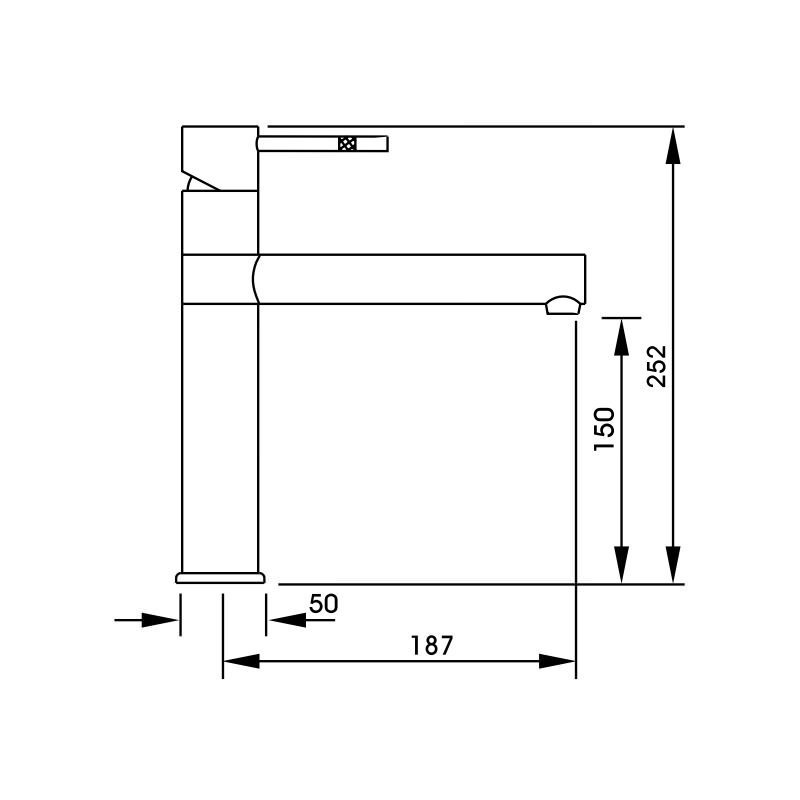 Abode Hydrus Single Lever Mono Sink Mixer Chrome