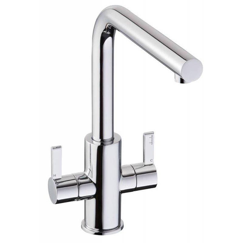 Abode Althia Twin Lever Mono Sink Mixer Chrome