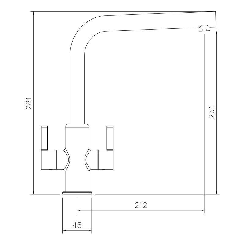 Abode Althia Twin Lever Mono Sink Mixer Brushed Nickel