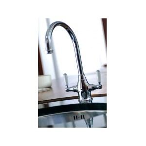 Abode Astbury Dual Lever Mono Sink Mixer Chrome