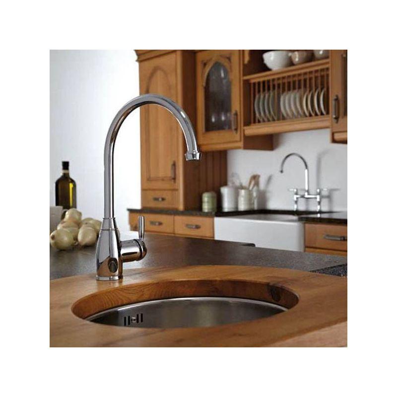 Abode Brompton Single Lever Mono Sink Mixer Chrome