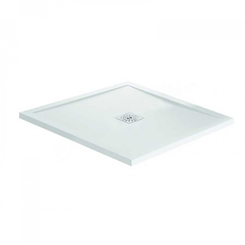 April Waifer Gloss White Shower Tray 800x800mm