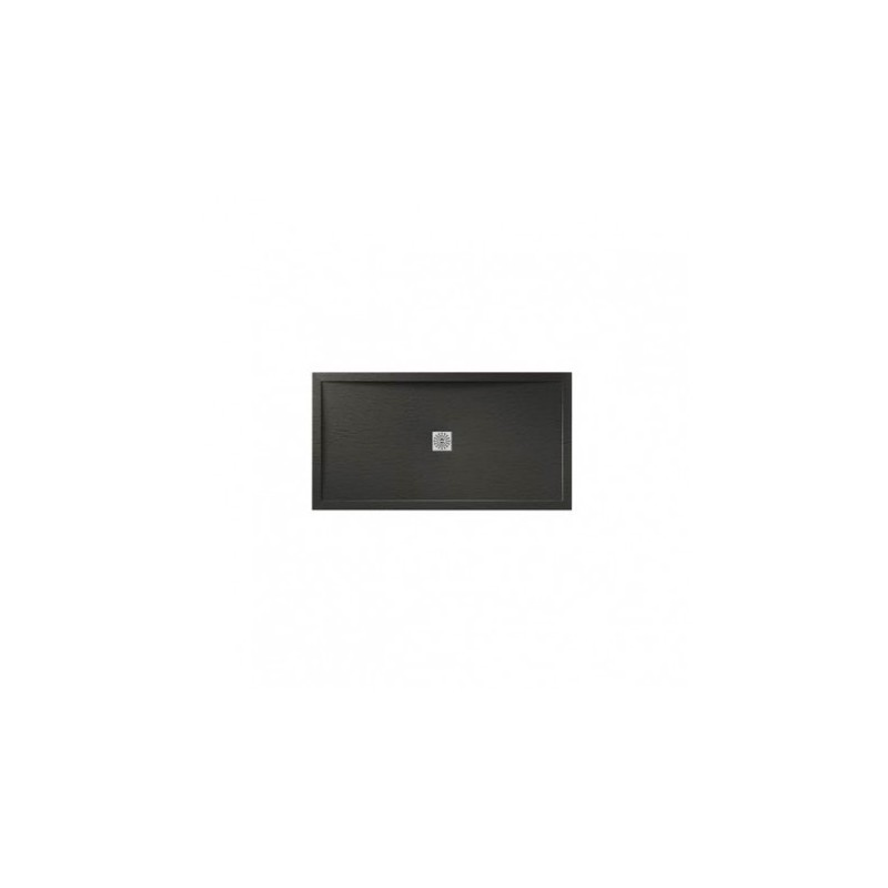 April Waifer Slate Effect Shower Tray 1200x700mm Black