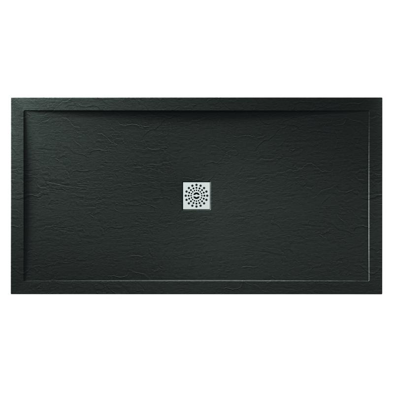 April Waifer Slate Effect Shower Tray 1200x760mm Black
