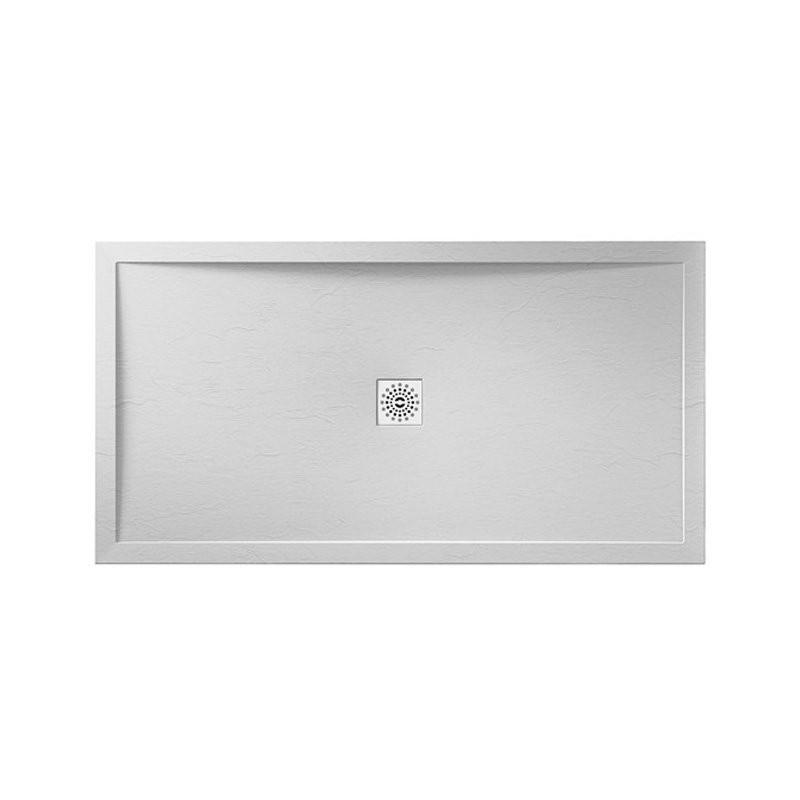 April Waifer Slate Effect Shower Tray 1200x800mm White