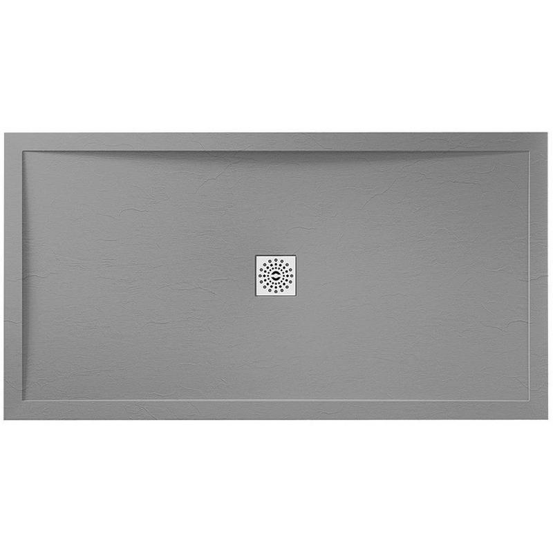 April Waifer Slate Effect Tray Grey 1400x700mm