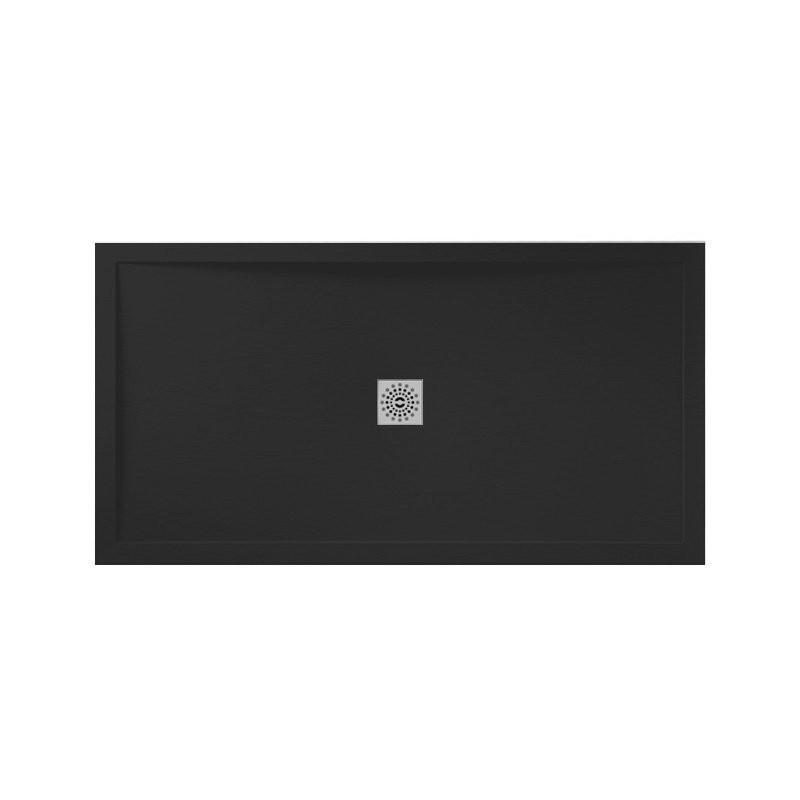 April Waifer Slate Effect Shower Tray 1400x800mm Black