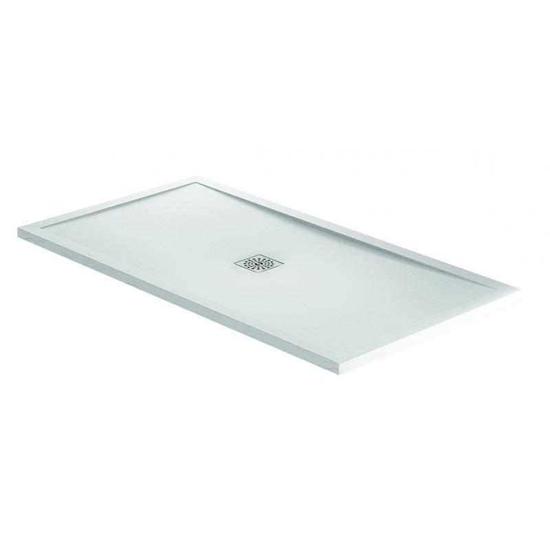 April Waifer Slate Effect Shower Tray 1500x700mm White