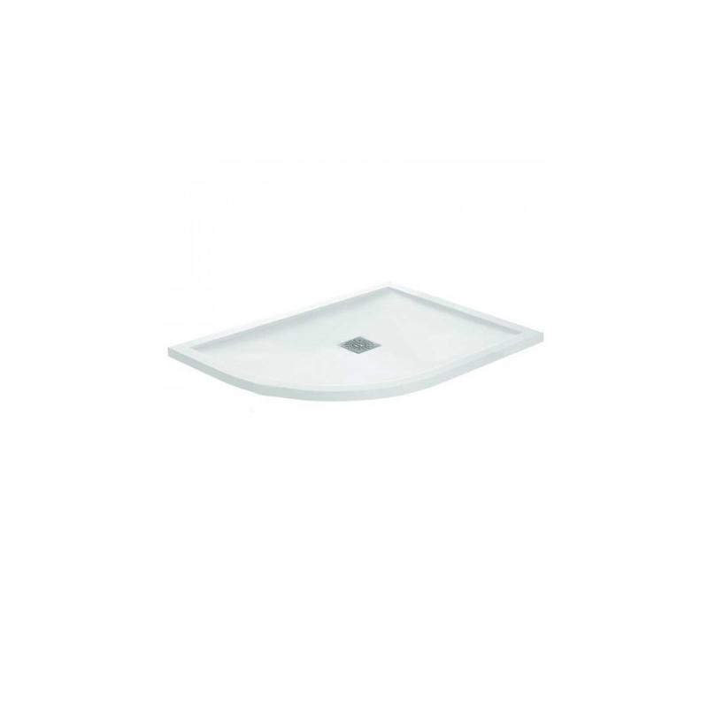 April Waifer Gloss White 900mm Quadrant Tray