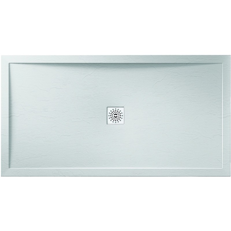 April 1200x800mm White Slate Effect Shower Tray