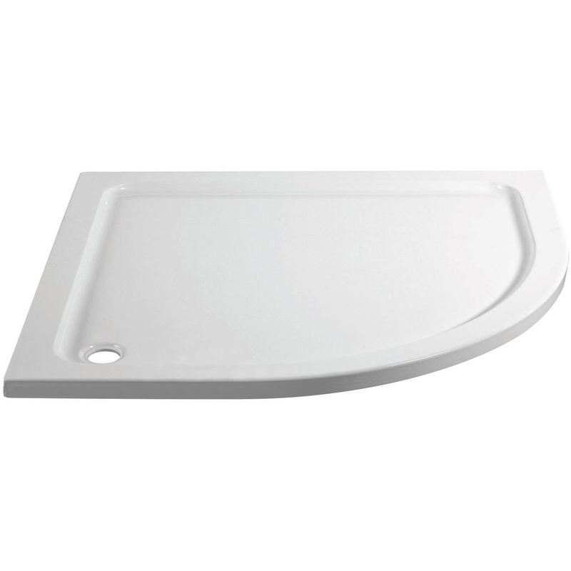 April 1000x800mm Offset Quadrant Shower Tray Right