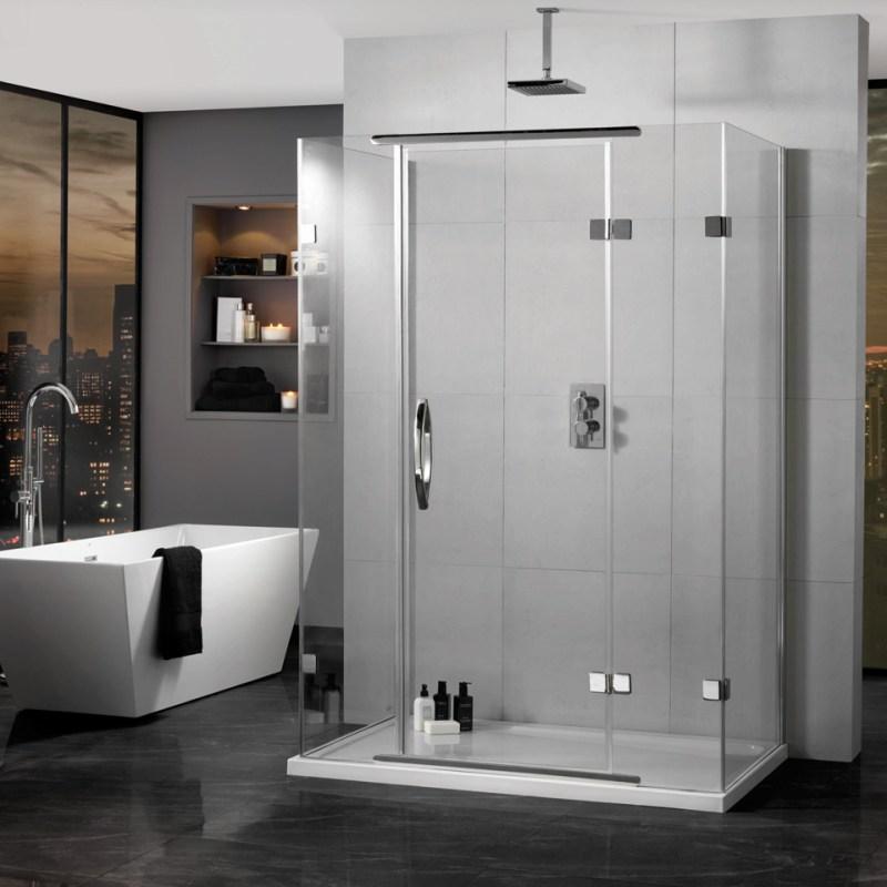 Aquadart Inline Hinged Door 3 Sided Enclosure 900x900mm