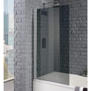 Aquadart Venturi 8 Square Edge Bath Screen Smoked
