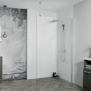 Aquadart 8 Wetroom Glass Panel 600mm
