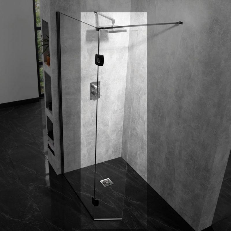 Aquadart 10mm Hinged Return Panel Clear/Silver