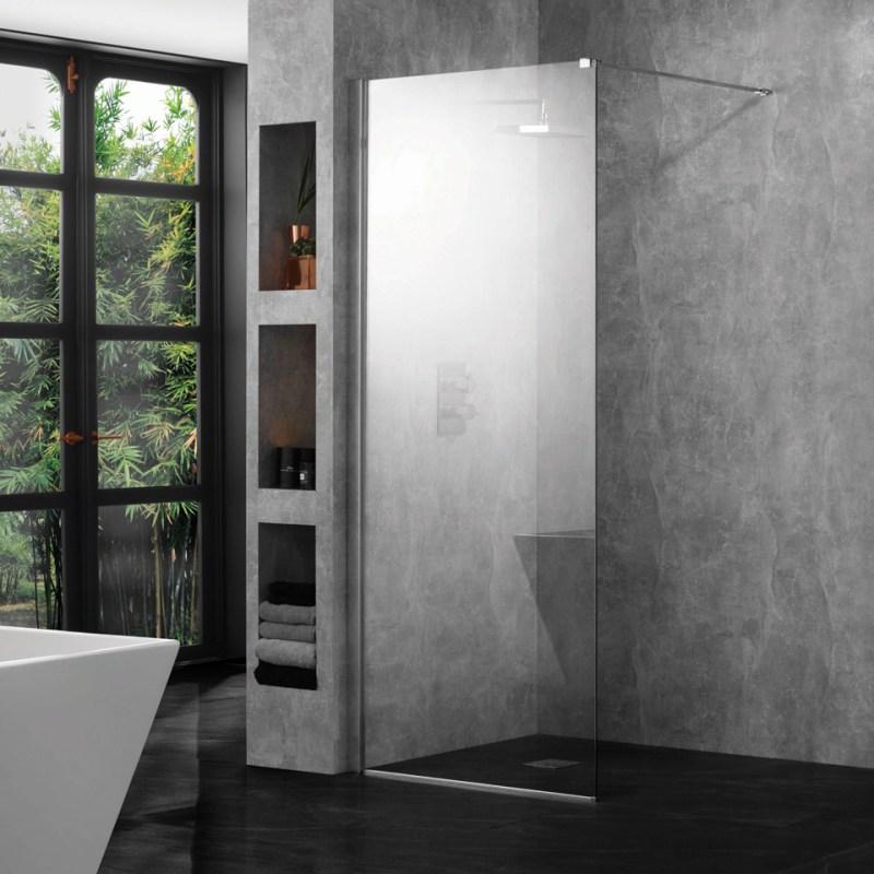 Aquadart 10mm 800mm Wetroom Panel Clear Glass