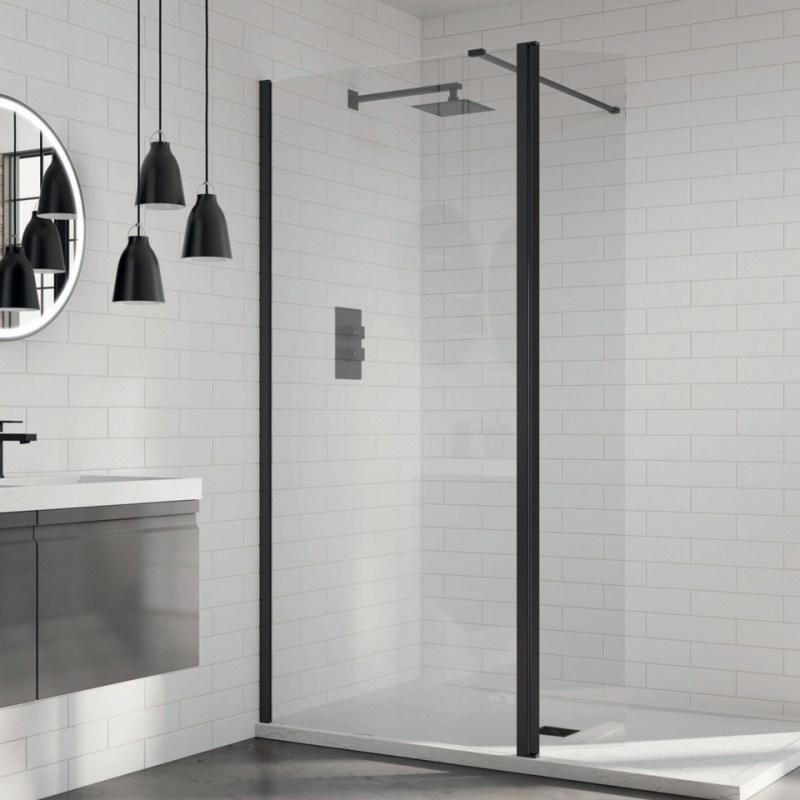Aquadart 8 Wetroom Glass Panel 500mm Clear