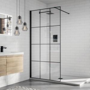 Aquadart 8 Wetroom Glass Panel 1200mm Matrix