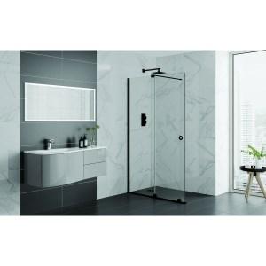 Aquadart Rolla 8 Sliding Wetroom Door 1700mm Matt Black