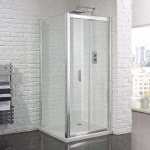Aquadart Venturi 6 Frameless Bifold Shower Door 1000mm