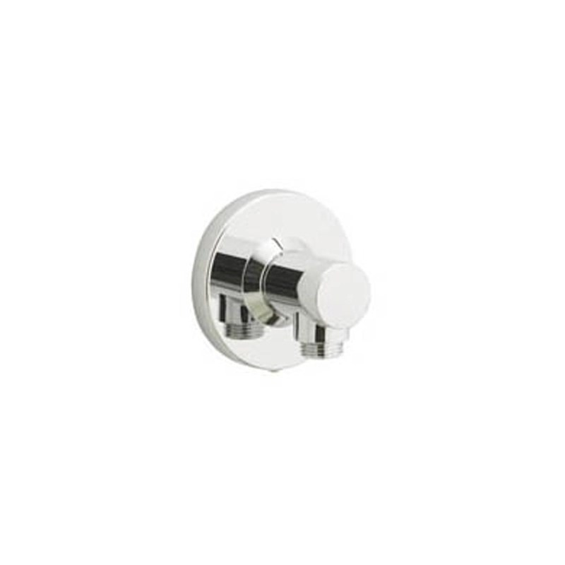 Aqualisa Axis Shower Head Push Fit Wall Outlet Chrome