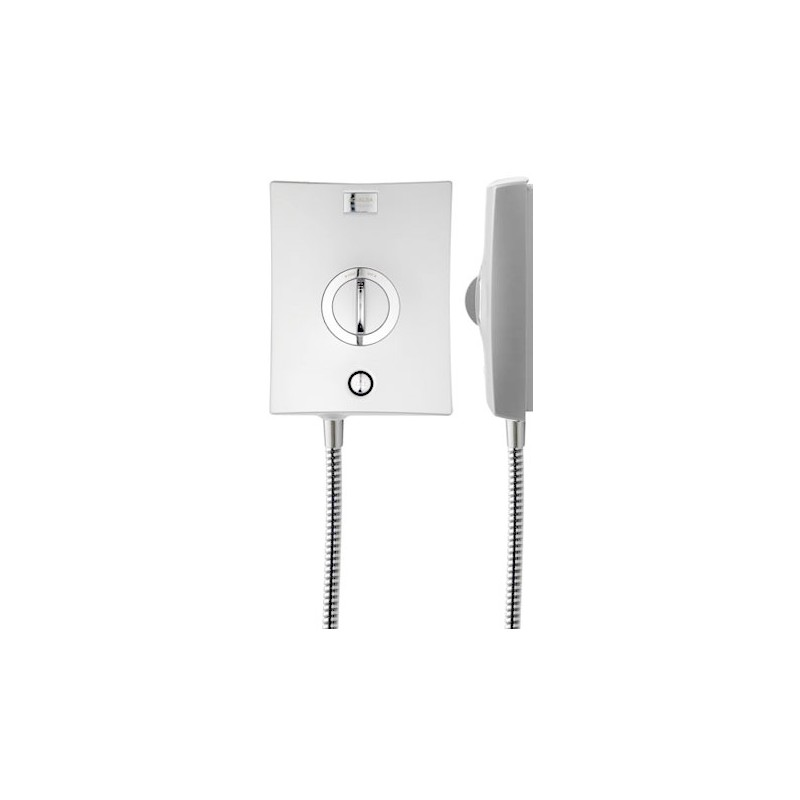 Aqualisa Quartz Electric with Harmony Head 9.5kW - White/Chrome