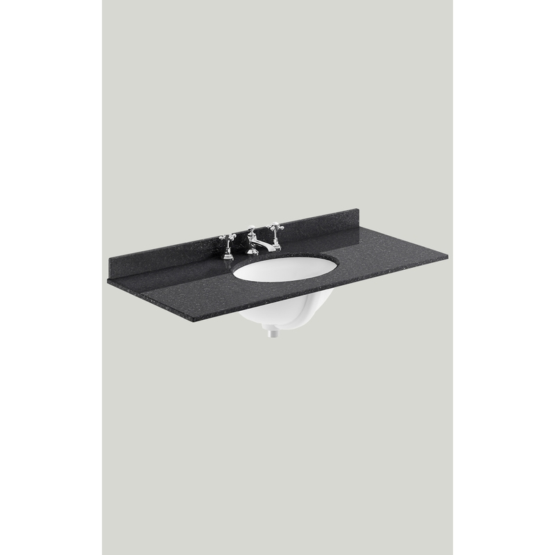 Bayswater 1000mm Single Bowl 3 Tap Hole Black Marble Top