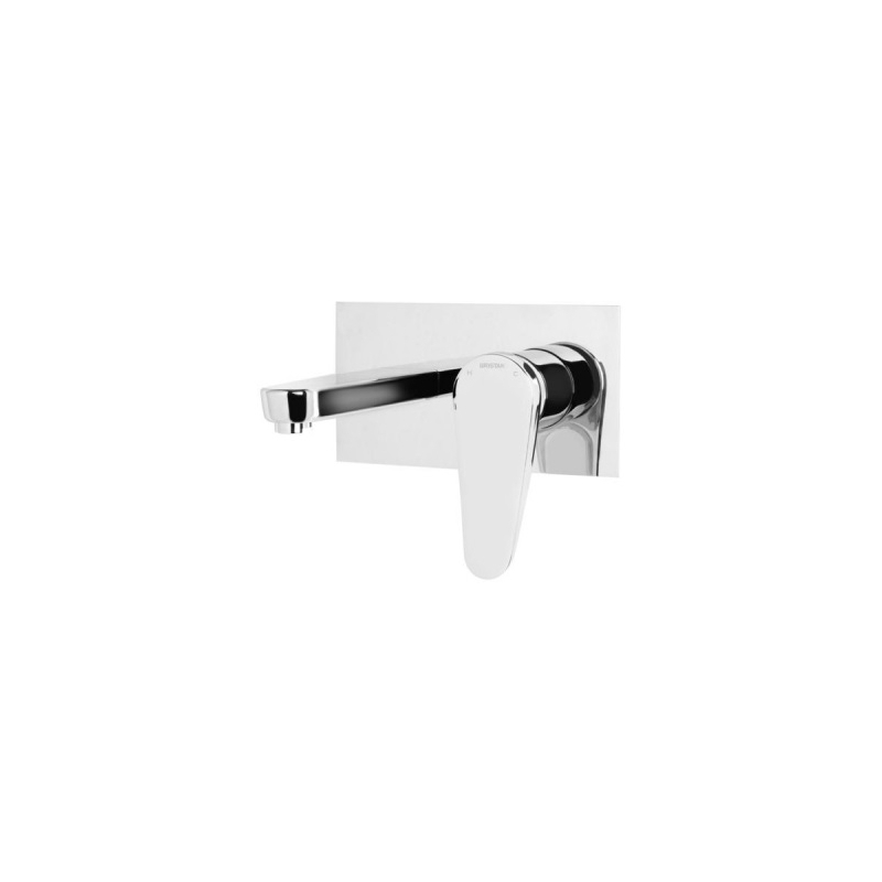 Bristan Claret Wall Mounted Basin Mixer White & Chrome