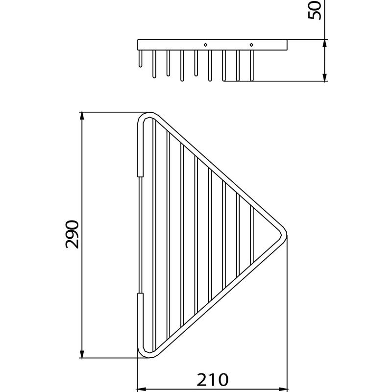 Bristan Open Front Corner Fixed Wire Basket