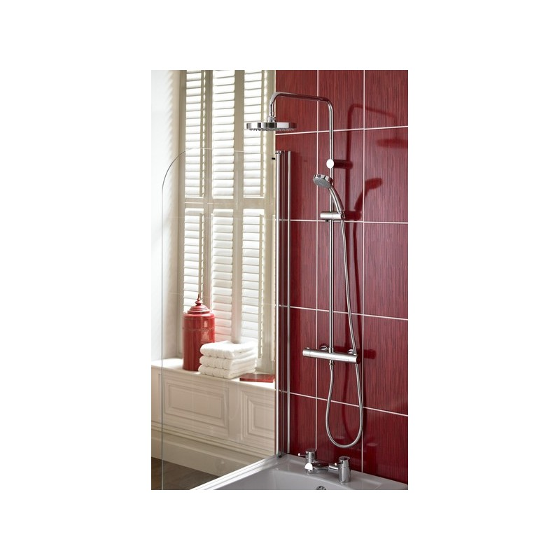 Bristan Carre Exposed Fixed Head Bar Shower with Diverter & Kit