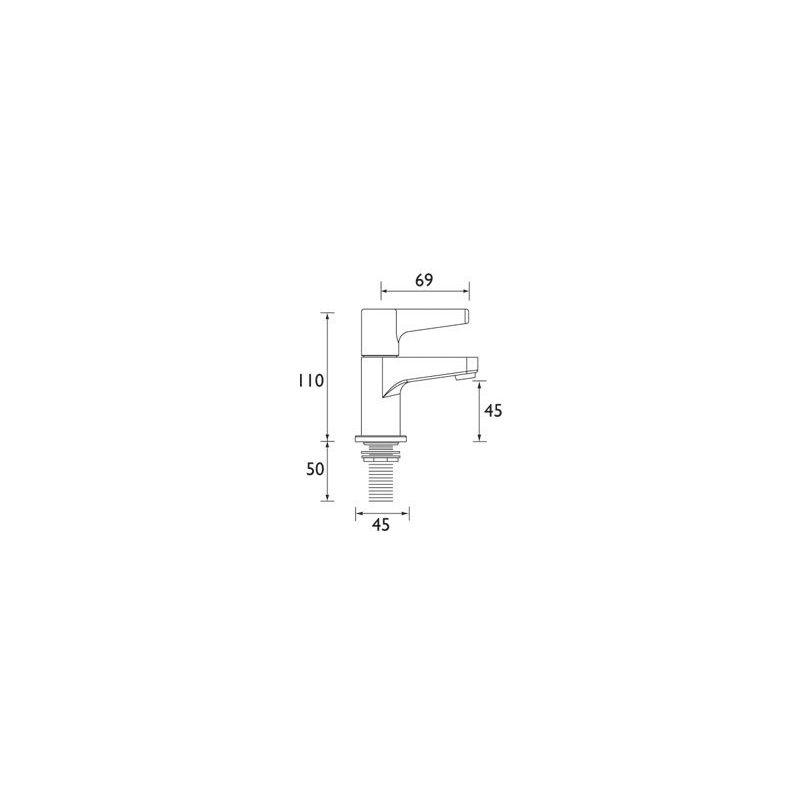 Bristan Design Utility Lever Basin Taps